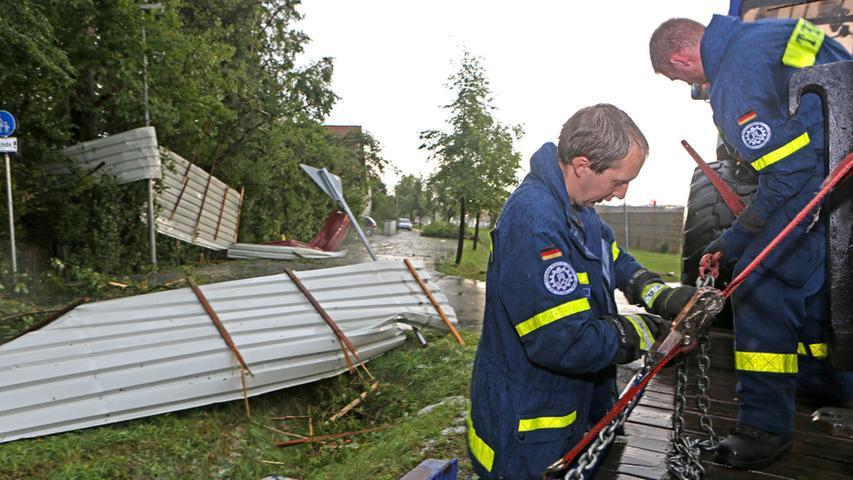 Nach Unwetter: Eine Spur der Verwüstung in Neunkirchen