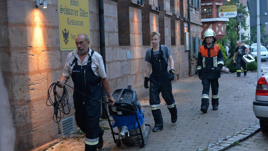 Im Hotel Schwarzer Adler kam es zu einem massiven Wasserschaden.