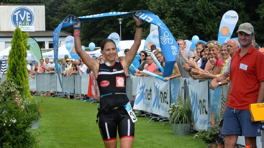 Auf der Mitteldistanz setzte sich Rebecca Fondermann durch.
