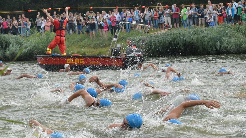 Schwimmen, Radeln, Laufen: In Erlangen war am Sonntag wieder Triathlon angesagt.