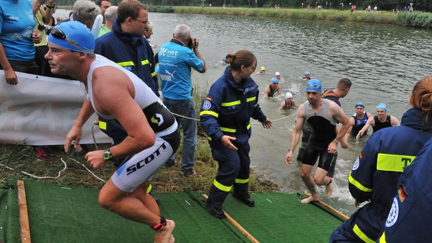 Nach den schweren Unwettern am Samstag hatten die Sportler verhältnismäßig Glück mit dem Wetter.