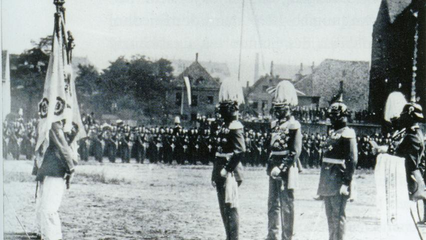 Zum 100. Regimentsjubiläum im Sommer 1914 reiste extra der bayerische Kronprinz Rupprecht an.