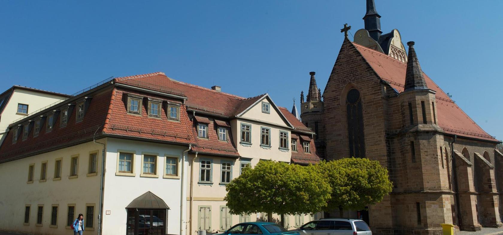 Trügerische Idylle: Das Otto-Dix-Haus neben der Marienkirche in Gera.