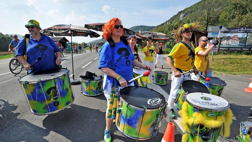 Besonders schön anzusehen: Die Sambashow.