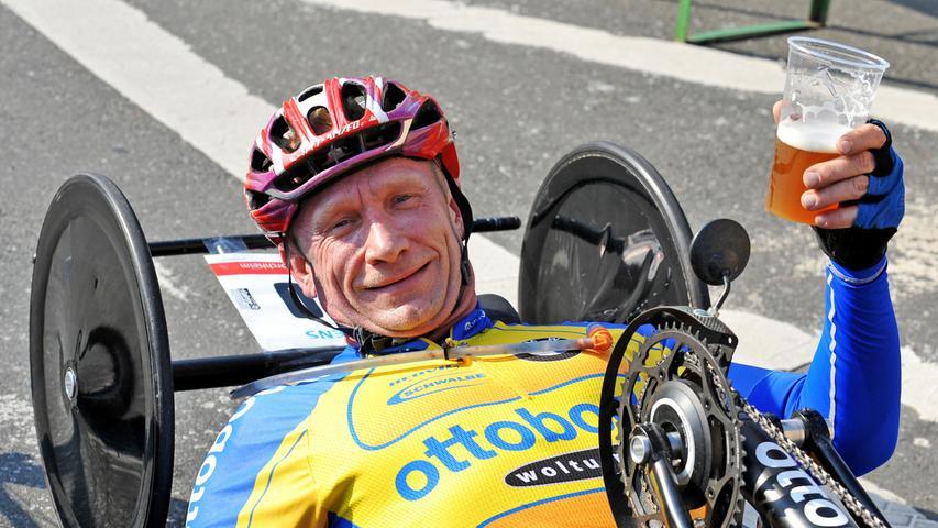 Bei den Handbikern siegte Thorsten Purschke und stellte sogar einen neuen Streckenrekord auf.