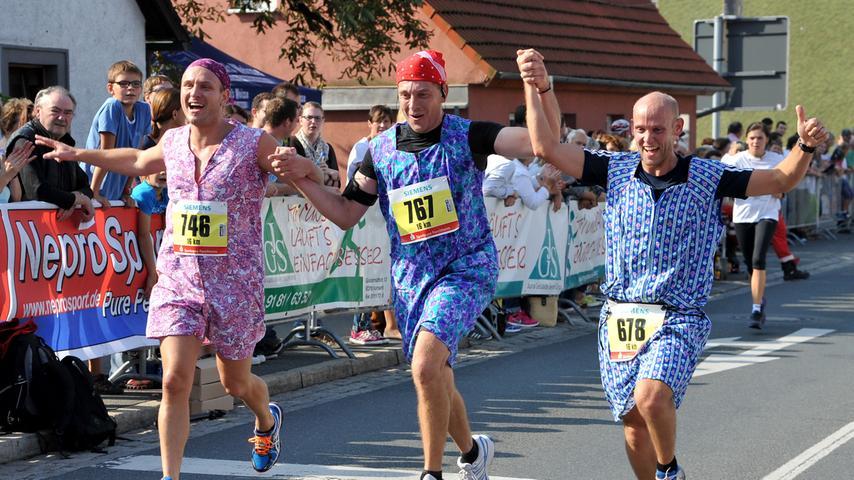 Bei vielen der 1700 Teilnehmern stand allerdings nicht die sportliche Leistung, sondern der Spaß an der Sache im Vordergrund.