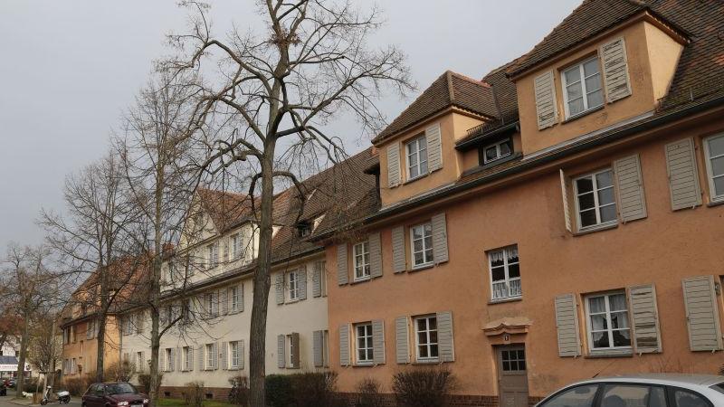 An der fast 100 Jahre alten Wohnanlage in der Schillingstraße zeigt sich das Spannungsfeld, im dem die WBG, aber auch andere Wohnungsgesellschaften stehen: Die Siedlung soll Neubauten und mehr Wohnungen weichen.