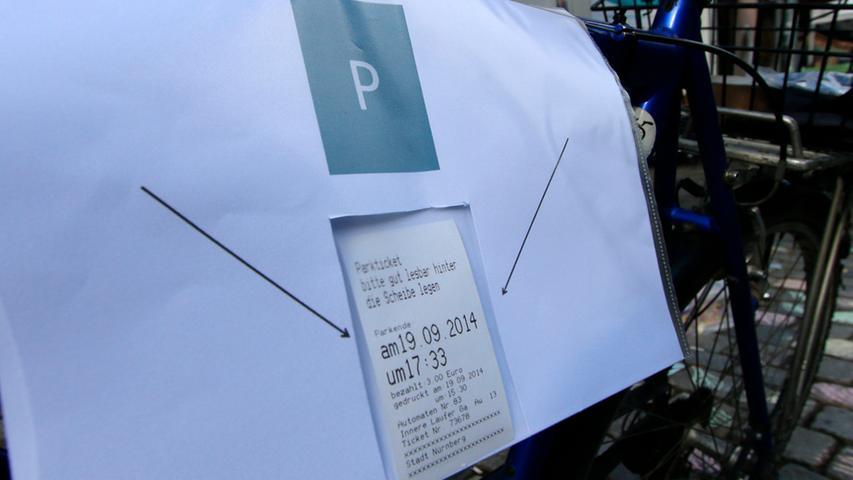 Wenn der Stellplatz kostenpflichtig war, wurde ein Parkticket gelöst. Bluepingu erstattete die Kosten gegen Vorlage des Beleges zurück.