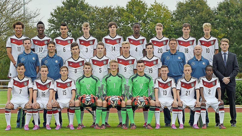 So präsentiert sich derzeit der Kader der deutschen U16-Nationalmannschaft.Foto: oh