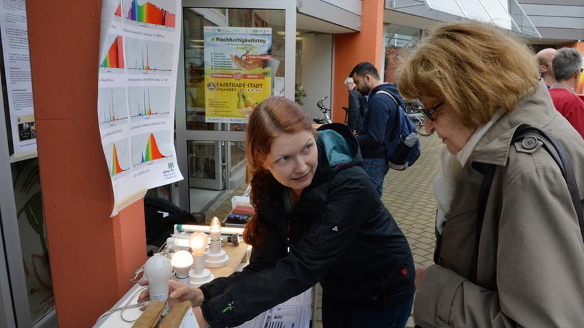 Energiesparen und Glühlampen waren ebenfalls ein Thema beim Nachhaltigkeitstag, doch auch kleine Dinge...