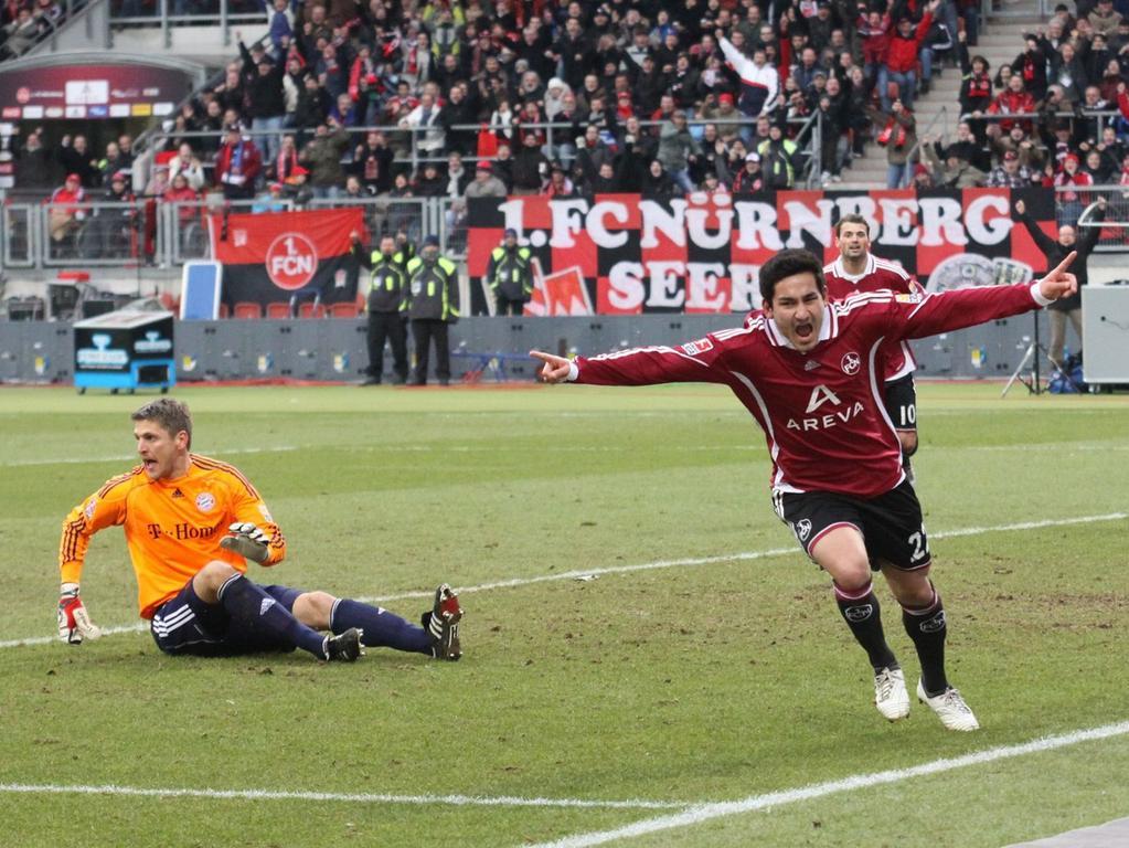 Die Münchner waren erwartungsgemäß hoch überlegen, hatten es aber mit einer leidenschaftlich kämpfenden Nürnberger Mannschaft zu tun. Die Club-Elf rannte sich die Lunge aus dem Leib und wurde belohnt. Nach Müllers Tor zur Gästeführung in Durchgang eins war es Youngster Ilkay Gündogan, der den Ausgleich besorgte. Dieser sollte bis zum Ende Bestand haben. Der Club zog dadurch mit Hannover gleich, blieb aber aufgrund der schlechteren Tordifferenz auf einem direkten Abstiegsplatz sitzen.