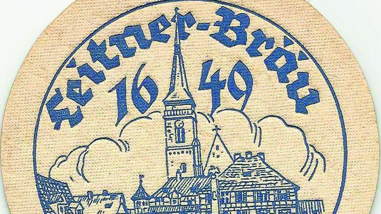 Brauerei Leitner, Nürnberger Str. 19, Produktion eingestellt 2010. Um 1950 entstand dieser Deckel.