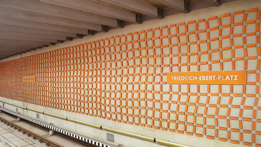 Nuernberg, 10.10.2014....U-Bahnhof Friedrich-Ebert-Platz; für Sonderseite im  Lokalen über Entwicklung der Nürnberger U-Bahnhöfe....Ressort: Anzeiger Lokales  Foto: Alexander Pfaehler..
