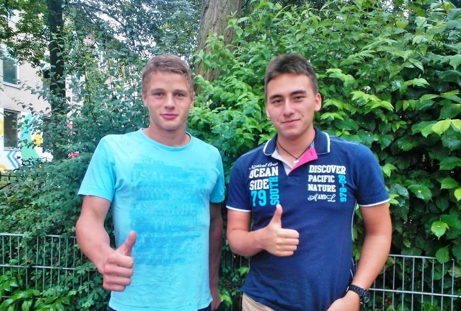 Georg Schneider (l.) und René Klepper waren bisher im Jugendparlament aktiv — und ermutigen andere Jugendliche, sich einzubringen.