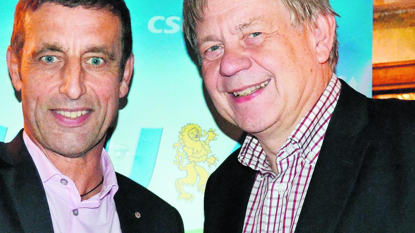 Lutz Quester (links) sprach auf Einladung von Karl Freller.