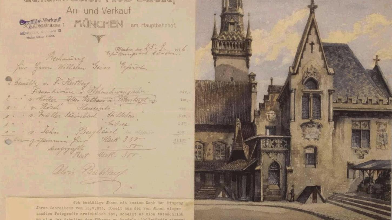 Aus dem Jahre 1914 oder 1915 stammt das Aquarell