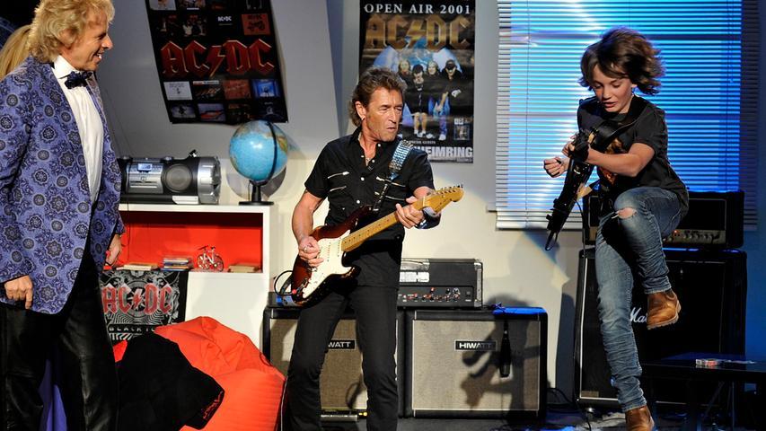 ...rockte er mit Peter Maffay das Studio.