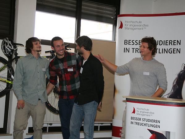 """Vier Treuchtlinger Studenten erhielten viel Applaus für ihr Projekt """"SUP-A-LOT""""."""