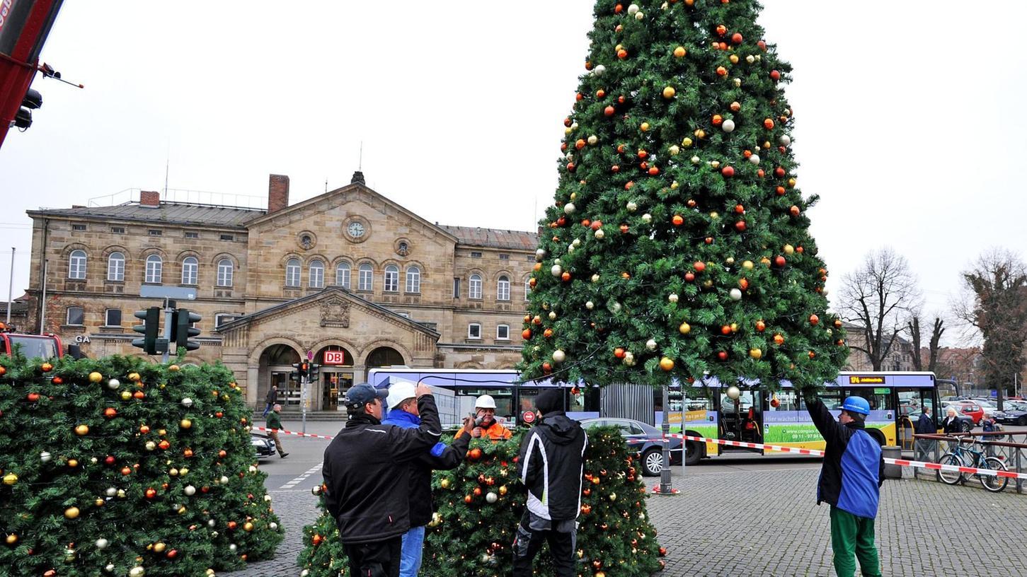 Tannenbaum Fürth.Fürth Kritik Und Lob Für Den Künstlichen Weihnachtsbaum In Fürth