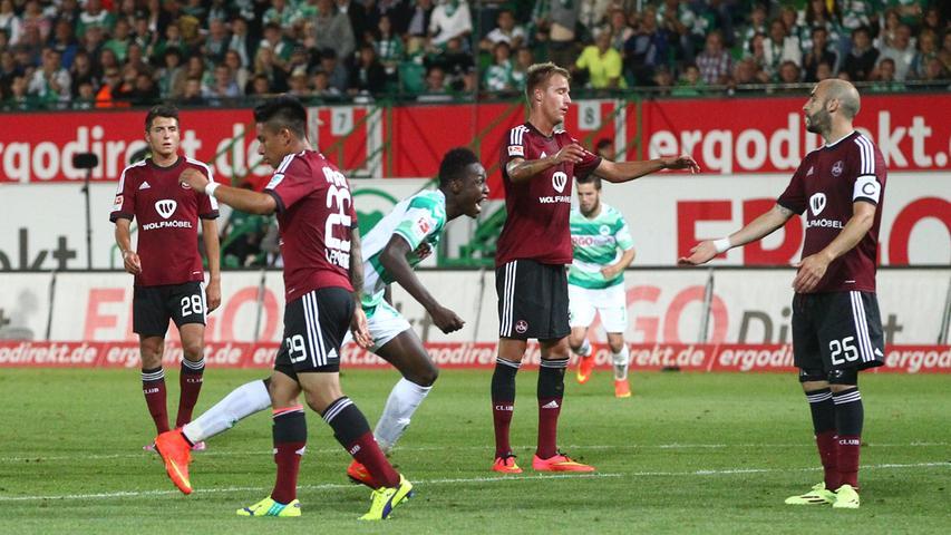 Abdul Baba Rahman verabschiedete sich an jenem Abend mit einem Knalleffekt aus der Kleeblattstadt. Mit dem frühen 1:0 stellte er die Weichen von Beginn an auf Derbysieg. Als der Club zu Beginn der zweiten Hälfte kurz vor dem 2:2 stand, stellte Baba auf 3:1 und brachte damit Fürth auf die Siegerstraße. Wenige Tage später zog der Derby-Held zum Erstligisten FC Augsburg weiter, dank seiner Heldentaten konnte ihm im Kleeblatt-Lager aber keiner so richtig böse sein.