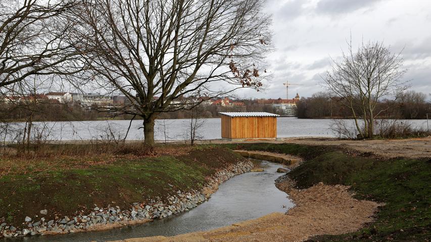 Bauarbeiten am Wöhrder See für Bucht - Südufer und Norikus..Foto: (c) RALF  RÖDEL / NN +++ Veröffentlichung nur nach vorheriger Vereinbarung!Bauarbeiten am  Wöhrder See für Bucht