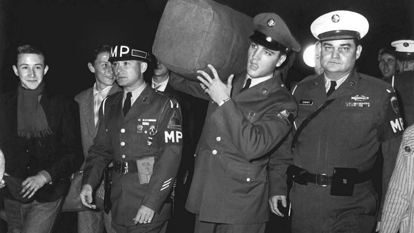 Der King war von Oktober 1958 bis März 1960 im Rahmen seines Militärdienstes in der US-Army eigentlich im hessischen Friedberg stationiert - in die Oberpfalz kam er für zwei Manöver.
