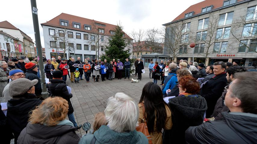Erlanger protestieren gegen Anschlag auf