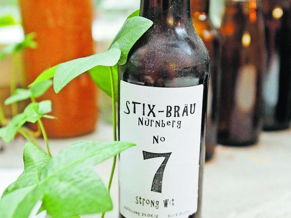 """Stix-Bräu """"N° 7"""", ein Witbier."""