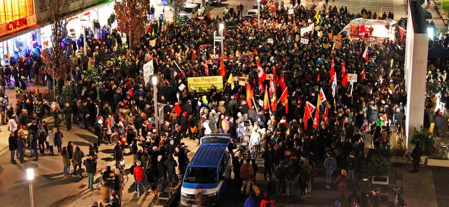 Gegen Pegida, für Toleranz: Nürnberger gehen auf die Straße