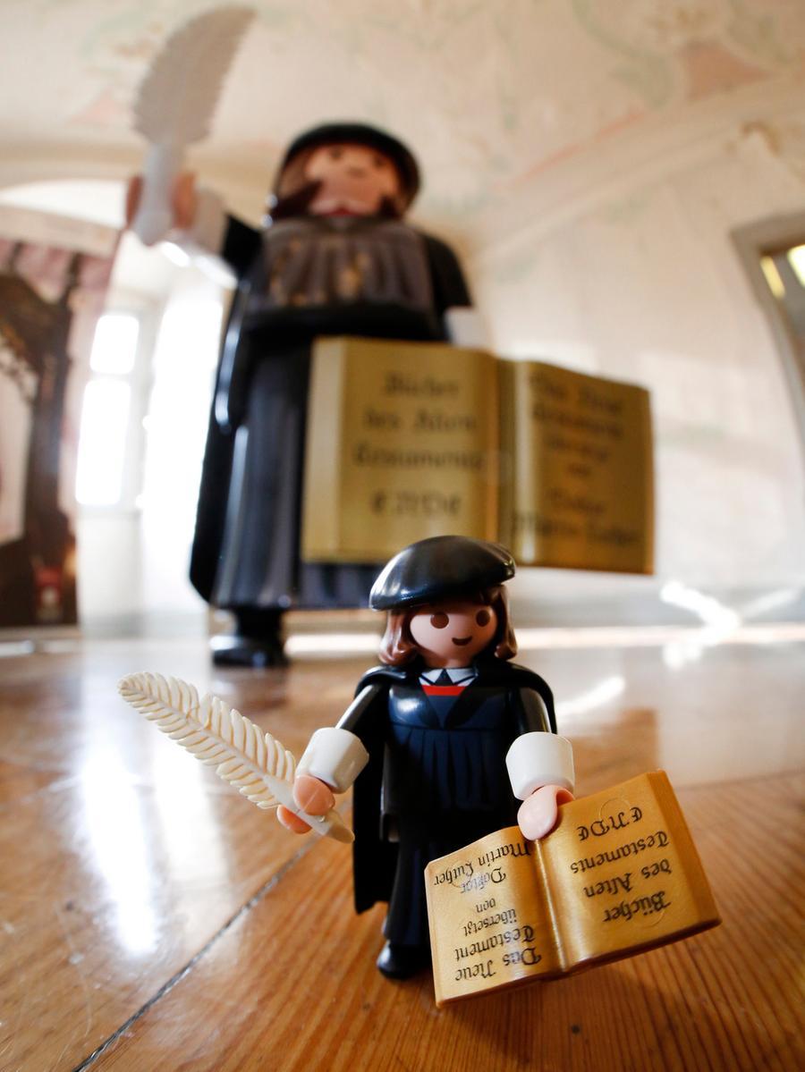 Nuernberg , 06.02.2015..Fembohaus, Vorstellung Playmobil Lutherfigur ,  ..Ressort: Lokales Fotografie: Stefan Hippel