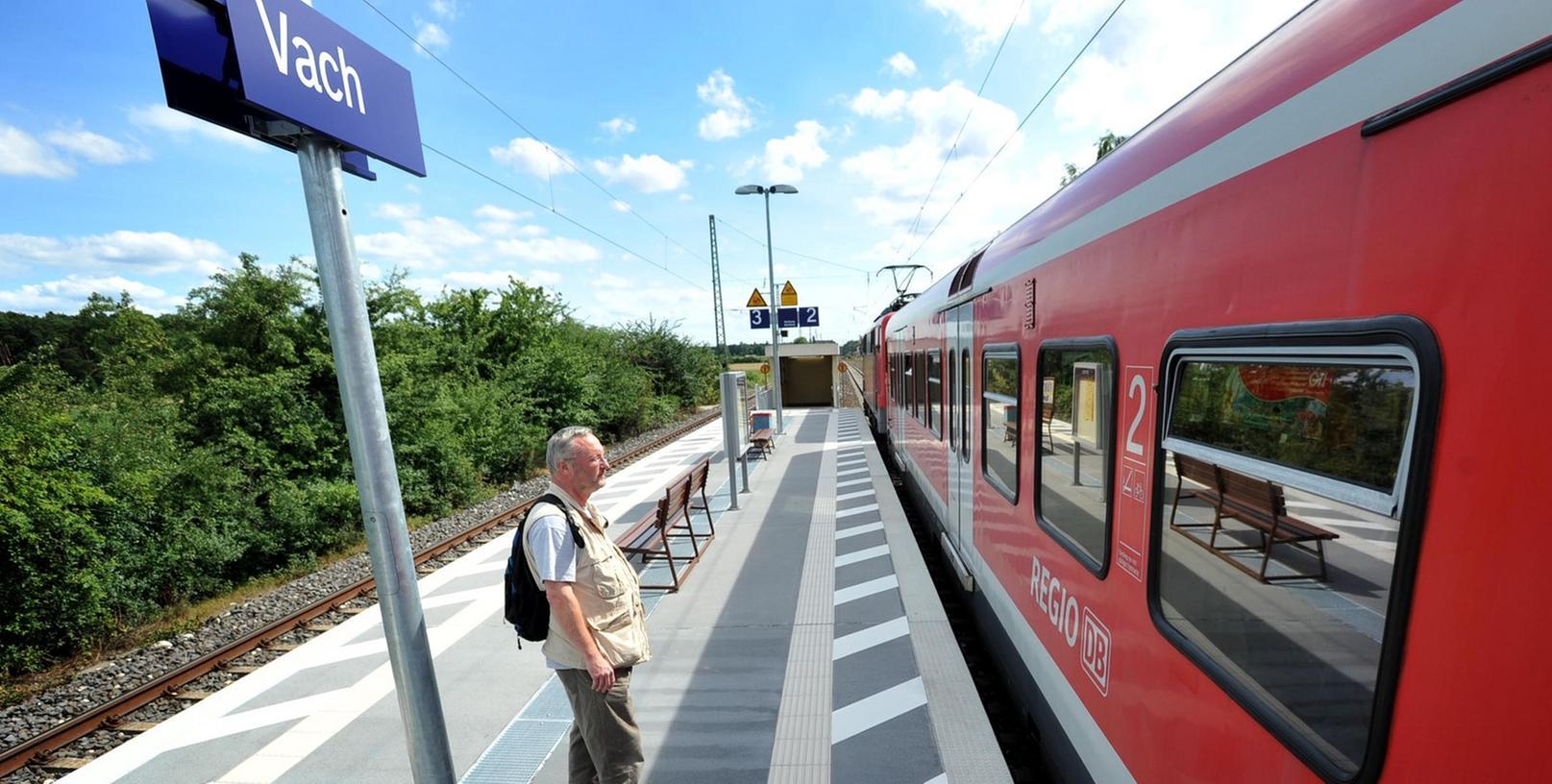 Den Bahnhaltepunkt Vach kennt auch der National-Express-Chef ziemlich genau,  wie er versichert.