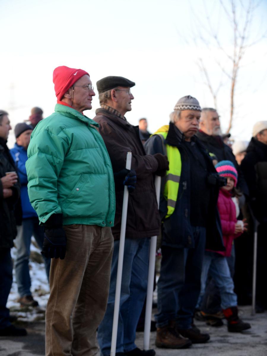 FOTO: Hans-Joachim Winckler DATUM: 7.2.2015..MOTIV: Demo gegen geplante  Stromtrasse in Raitersaich