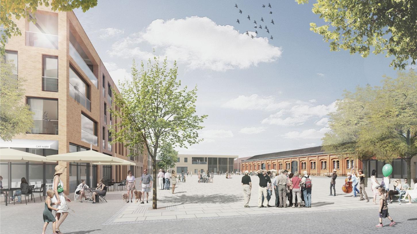 Auf dem Lagarde-Gelände in Bamberg sollen Wohnungen für über 2000 Menschen entstehen.
