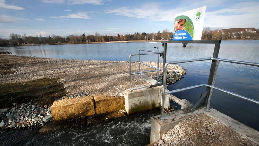 LOKALES Foto: Eduard Weigert Datum: 21.2.15..Wöhrder See - Südufer verändert  sich