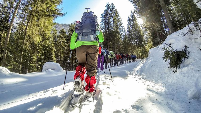 Durch den Schnee: Abenteuerliche Tour im Berchtesgadener Land