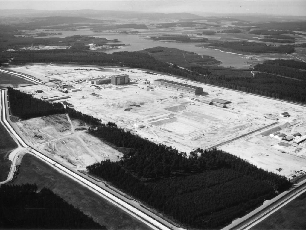 Ein Luftbild der Wiederaufbereitungsanlage Wackersdorf.
