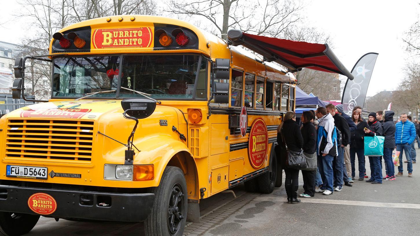 Pasta, Burritos, Bratwürste: Am Samstag haben Fürther angesichts von 16 Food-Trucks die Qual der Wahl.