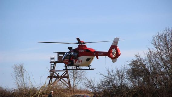 Helikopter im Einsatz: Rettungsübung der Bergwacht