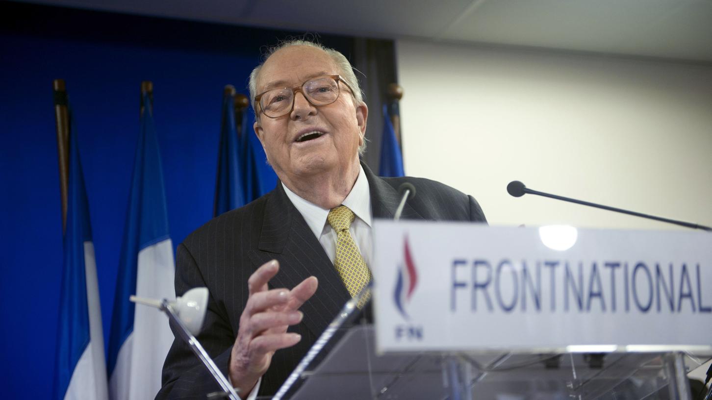 Ein Populist wie aus dem Lehrbuch: Jean-Marie Le Pen, der Gründer des Front National. Mittlerweile hat seine Tochter, Marine Le Pen, ihn aus der Partei verdrängt.
