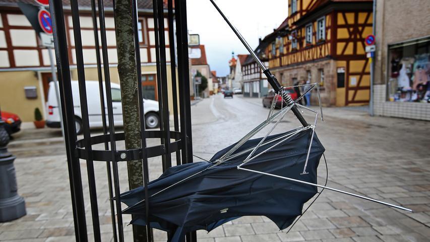 Zerstörerische Windböen:
