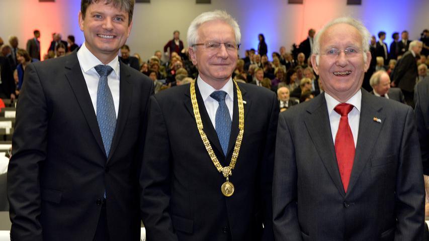 Neuer Präsident für die FAU: Hornegger in Amt eingeführt