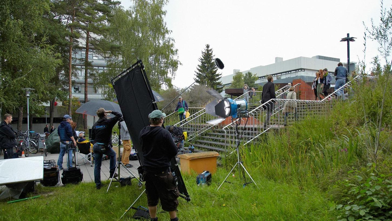 Auch an der Technischen Fakultät der Universität Erlangen-Nürnberg in der Erwin-Rommel-Straße wurden Szenen für den Franken-Tatort gedreht.
