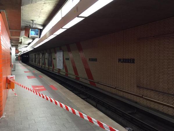 Ab etwa 21 Uhr blieben die Wagons der Linie U2/U3 nicht nur am Plärrer zeitweise aus.