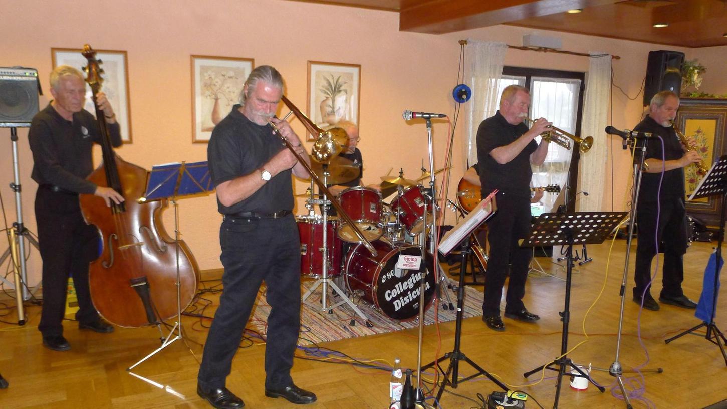 """Eine der dienstältetsen Jazz-Gruppen der Republik: Das """"Collegium Dixicum""""."""