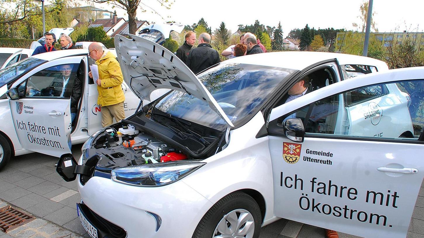 Seit 18. April vermieten die Gemeinden Buckenhof, Spardorf und Uttenreuth ihren Bürgen drei Elektroautos. Vier Stromtankstellen ermöglichen das Aufladen der Batterien in nur einer Stunde.