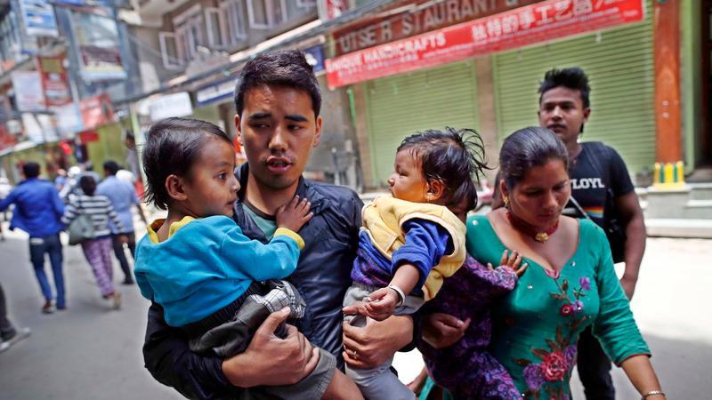 Viele Bewohner Nepals trauen sich nicht mehr in ihre Häuser aus Angst vor einem erneuten Beben.