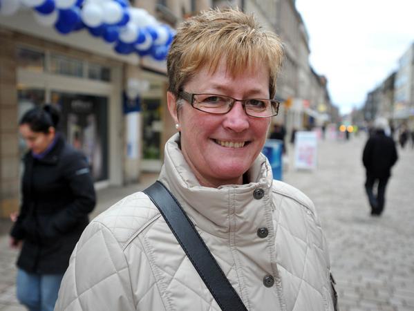 Maria Schmitz wünscht sich ein schönes Café in der Innenstadt.
