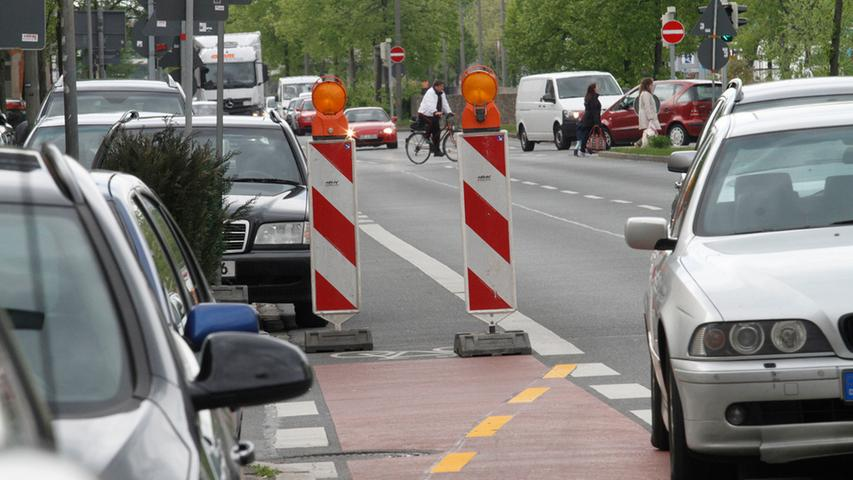 Endstation Baustelle: Wo Radler in Nürnberg ausgebremst werden