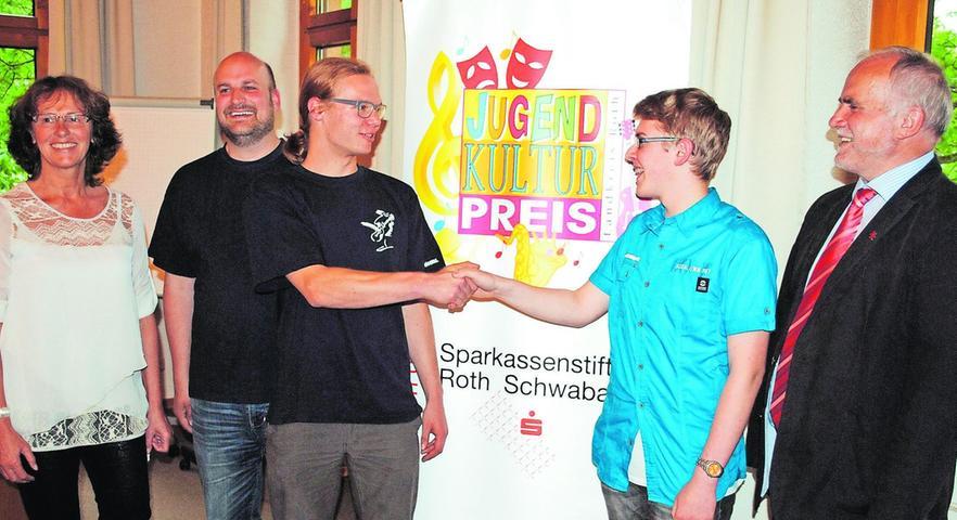 Zwei Gewinner beim Jugendkulturpreis des Landkreises Roth