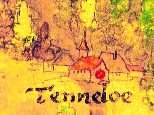 Die älteste Ansicht von Tennenlohe entstand 1552/55.